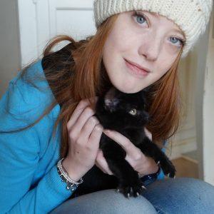 Aurora con gattino