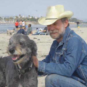 Paul Quinton con il cane