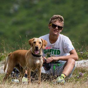 Davide con il cane