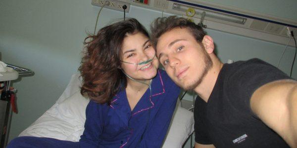 Asia e Marco in ospedale