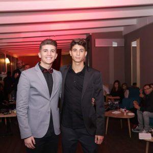 Federico con amico