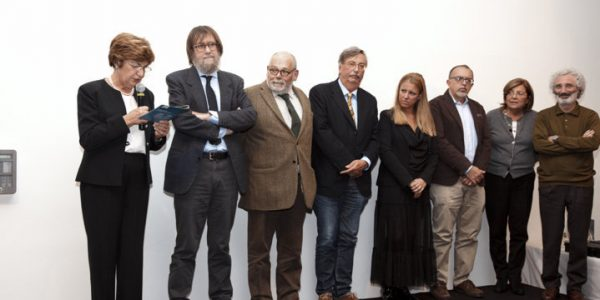 La Vicedirettrice scientifica FFC Graziella Borgo e i ricercatori premiati