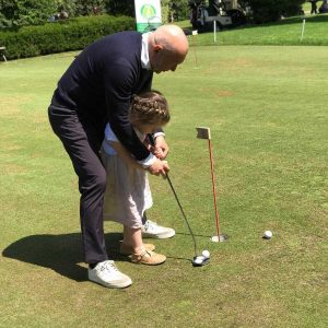 Faganelli e bimba golf