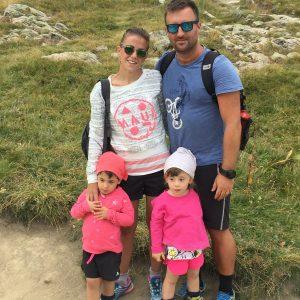 Giulia con la famiglia