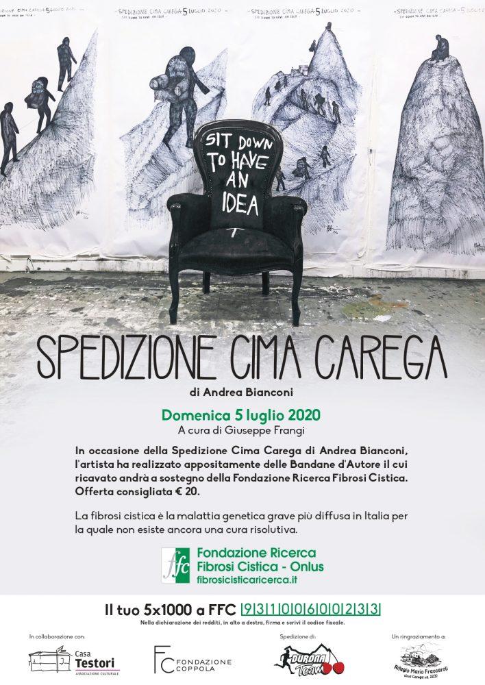 L'artista Andrea Bianconi porta la ricerca FFC sulla vetta di Cima Carega