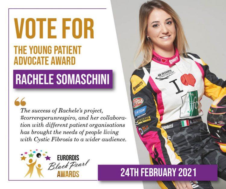 Rachele Somaschini finalista per gli EURORDIS Black Pearl Awards, categoria Young Patient Advocate. Voto aperto!